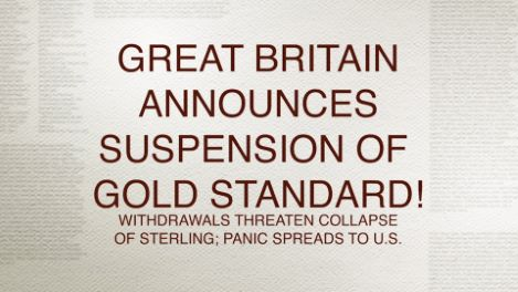 Britain Abandons the Gold Standard