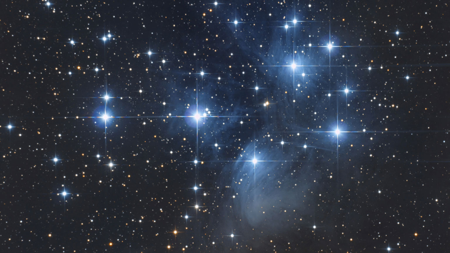 The Seven Sisters and Their Stardust Veil