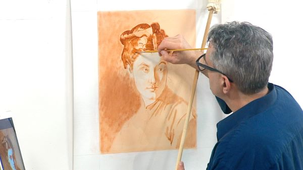 The Figure and a Portrait in Brunaille