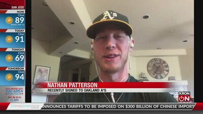 Fan signs with A's after pitch goes viral