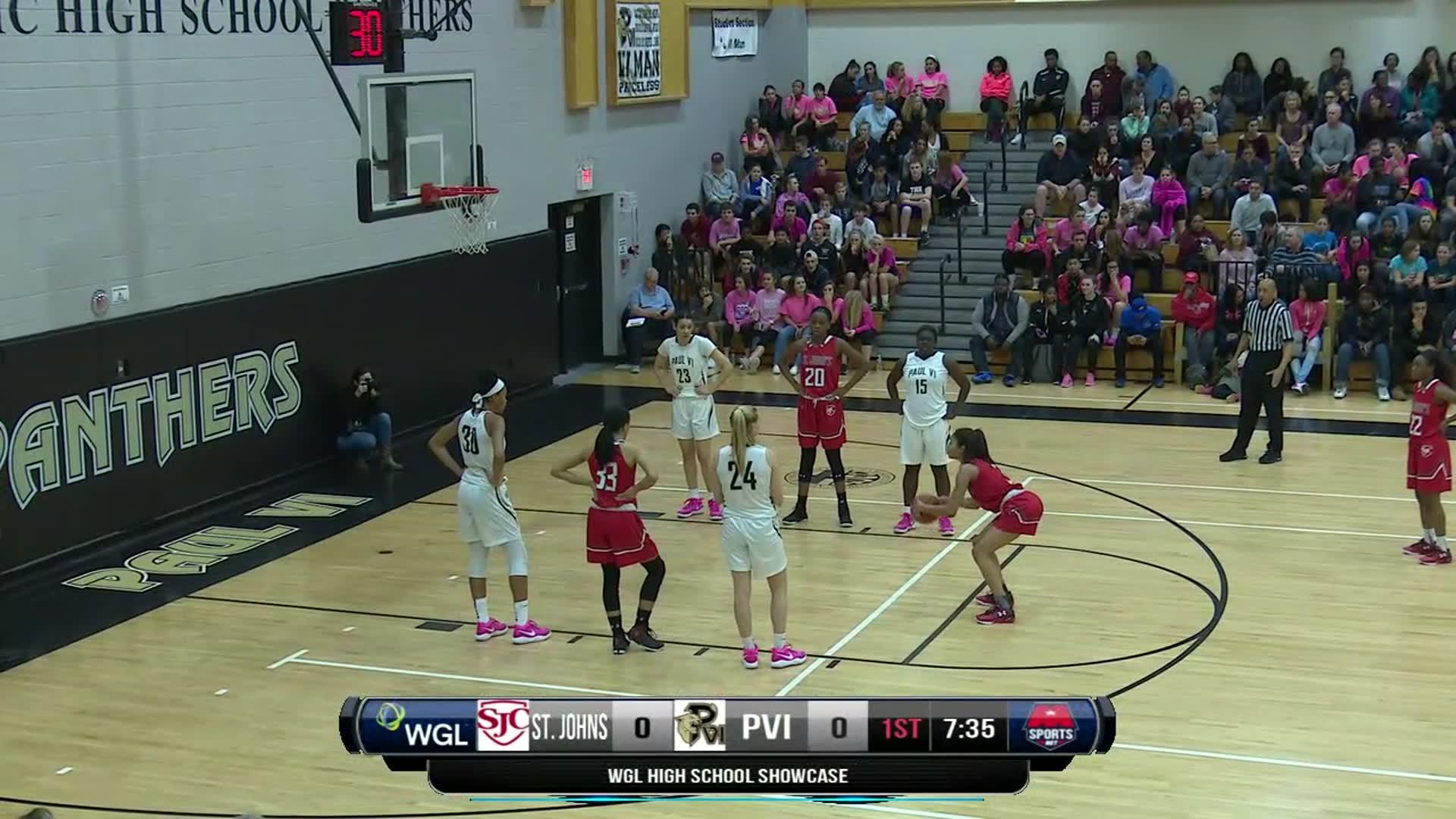 Image of High School Basketball Showcase: St. John's vs. Paul VI 2/12/17