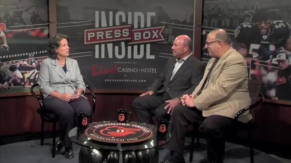 Image of  Inside PressBox 08/13/17 Pt. 2: Loyola AD Donna Woodruff