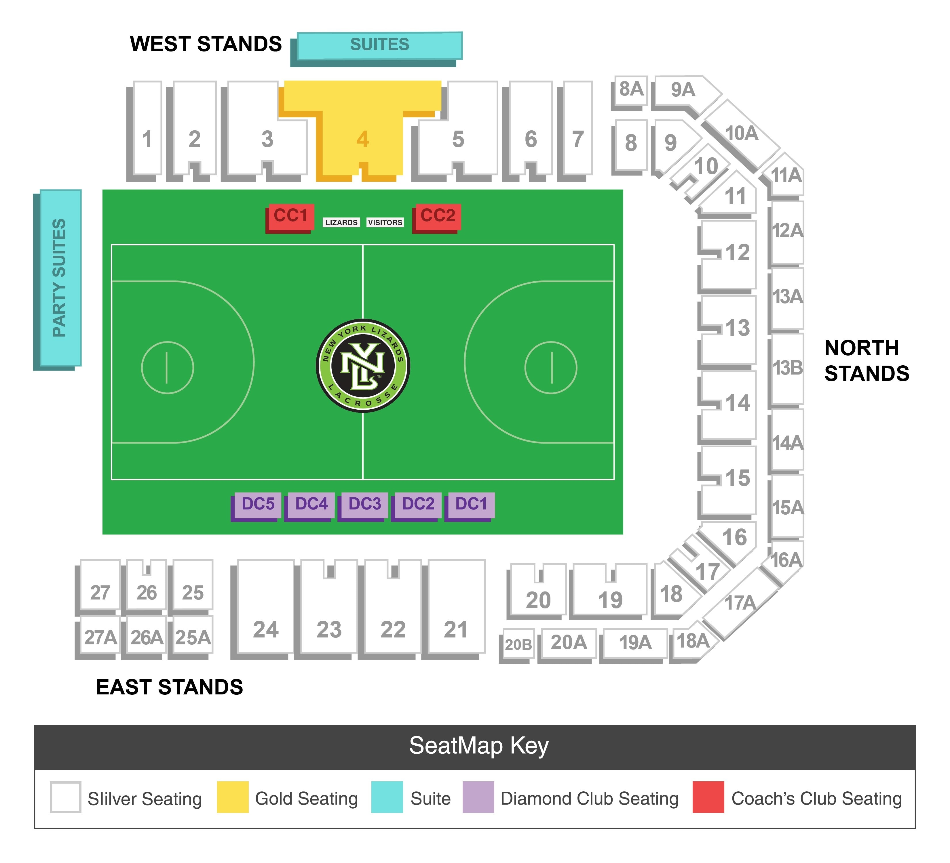 seating chart new york lizards