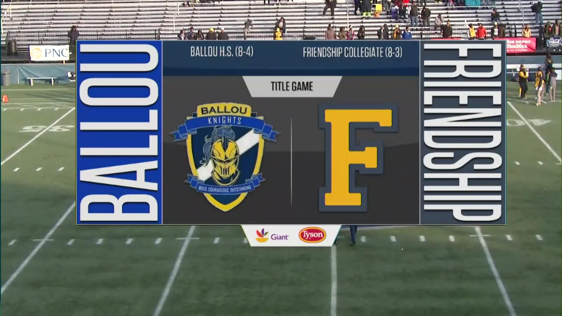 DCSAA AA Title Game: Friendship Collegiate vs. Ballou