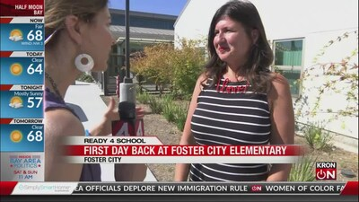 First Day of School: Foster City Elementary